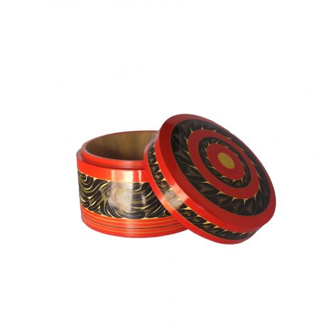 Laquer word jewellery container 41